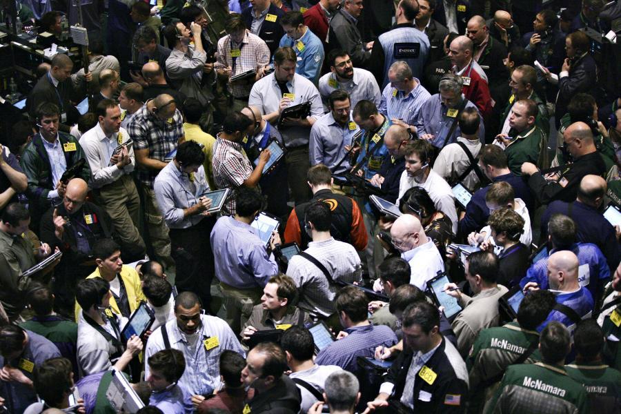 Maklerzy na giełdzie surowcowej NYMEX