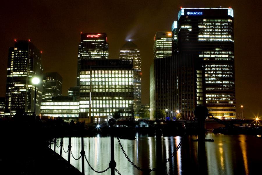 Dzielnica biznesowa Canary Wharf w Londynie