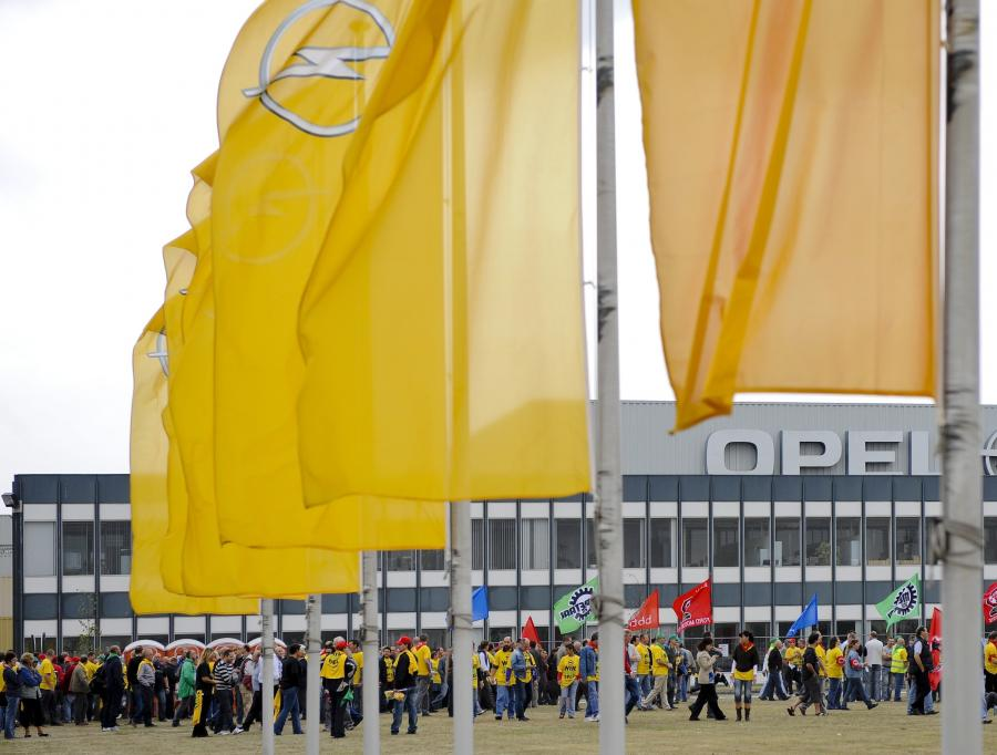 Protest pracowników Opla