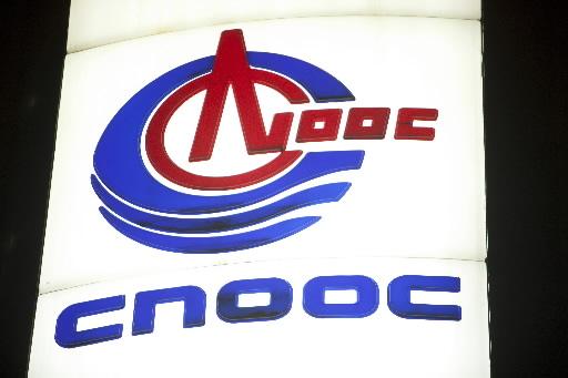 Chińczycy po raz pierwszy kupili aktywa naftowe w USA. Nz. logo China National Offshore Oil Corp. Fot. Bloomberg