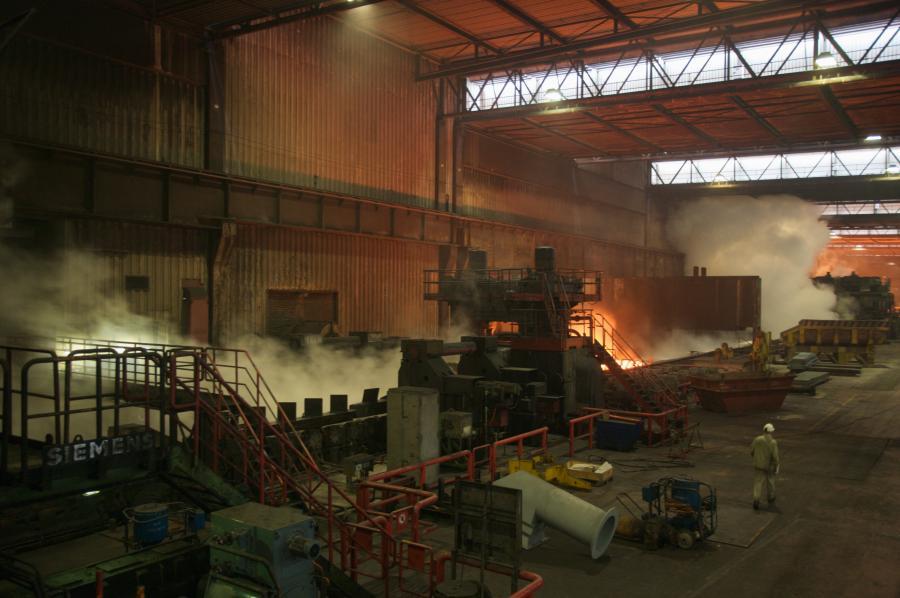 Fabryka koncernu Thyssen w Duisburgu w Niemczech