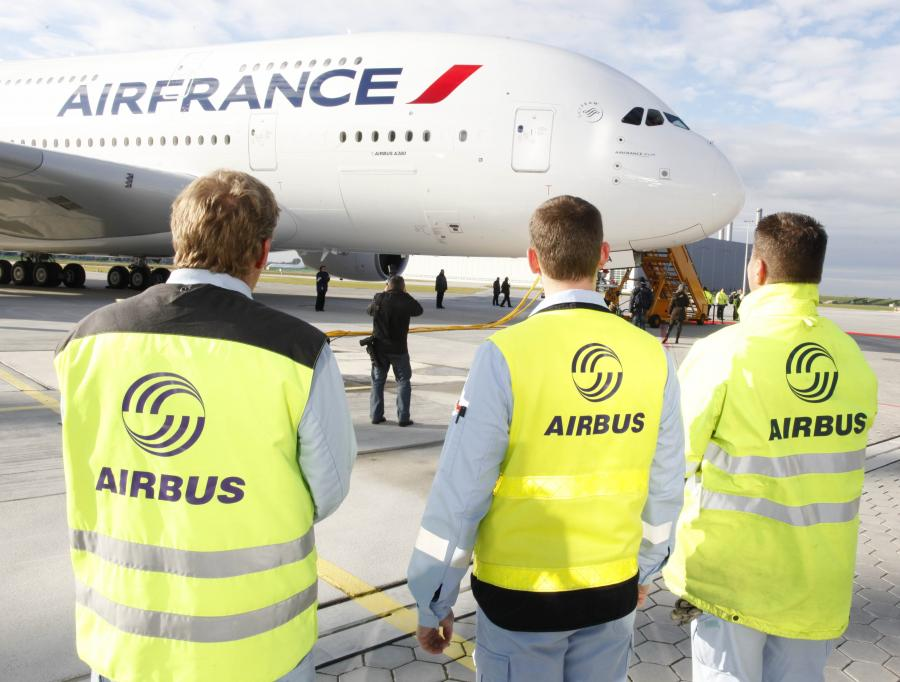 Airbus należący do Air France