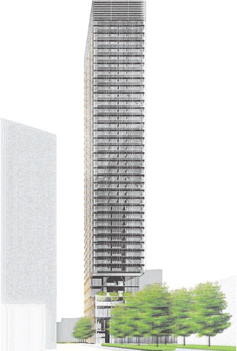 Budynek będzie miał 160 metrów wysokości Materiały prasowe