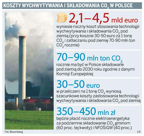 Koszty wychwytywania i składowania CO2 w Polsce