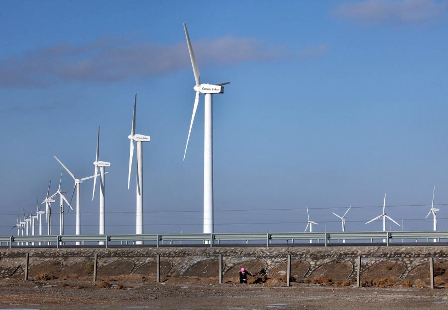 Farma wiatrowa w Chinach