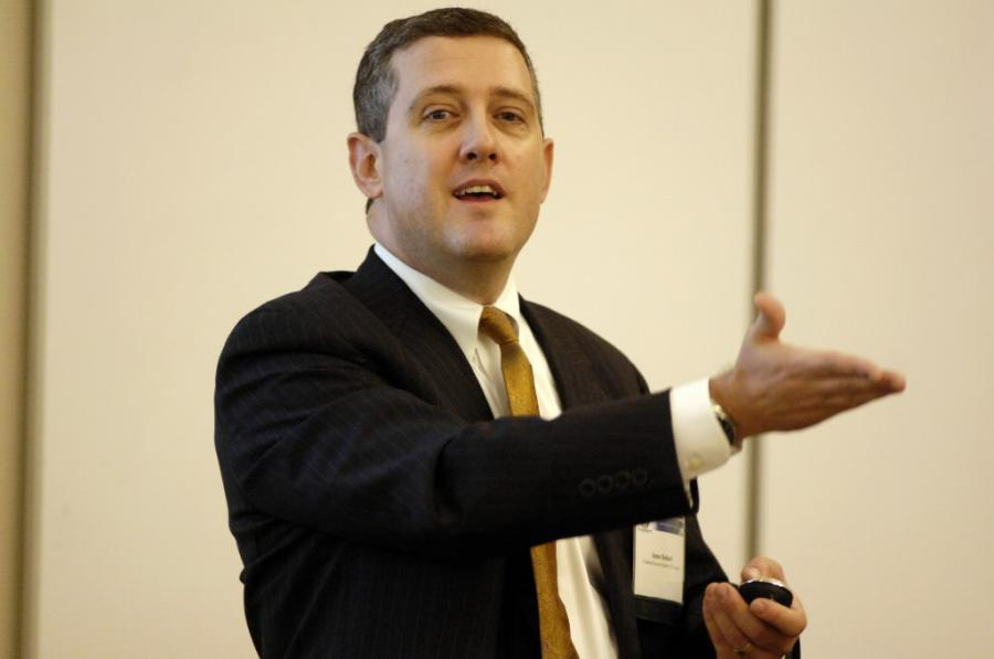 James Bullard, prezes Federalnej Reserwy w St. Louis. Fot. Bloomberg