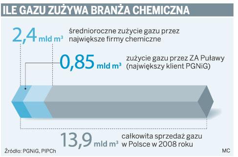 Ile gazu zużywa branża chemiczna