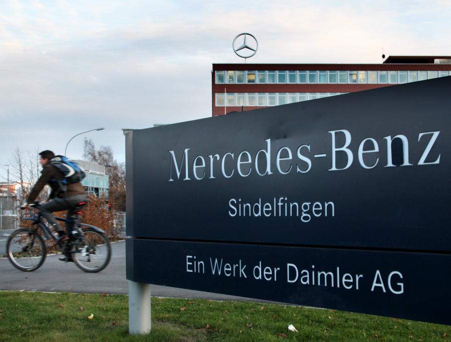 Fabryka Mercedesa w Sindelfingen niedaleko Stuttgartu