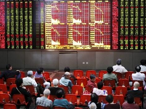 Tablice z notowaniami giełdy w Szanghaju