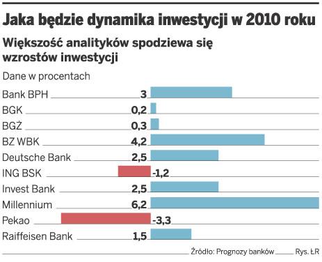 Jaka będzie dynamika inwestycji w 2010 roku