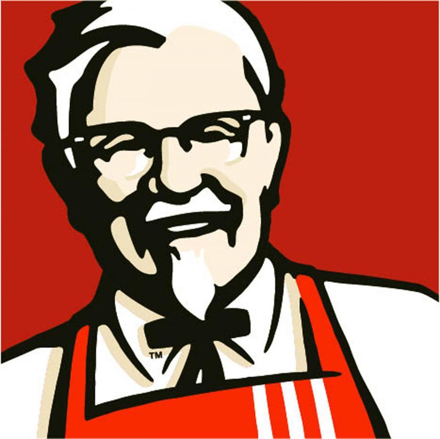 logo KFC, największej na świecie sieci restauracji oferujących głównie kurczaka