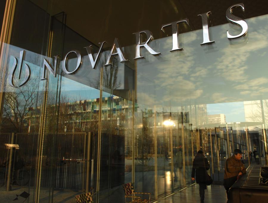 Wejście do siedziby Novartisu