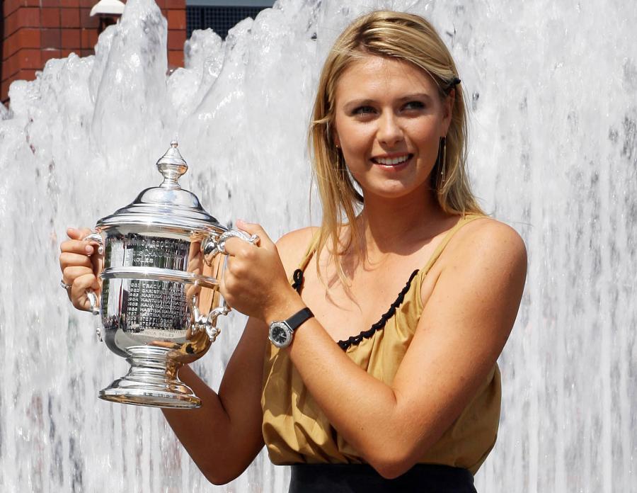 Maria Szarapowa z pucharem mistrzyni US Open w 2006 roku