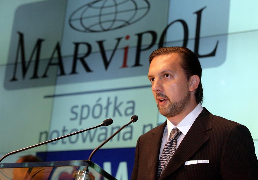 Warszawa, 2008-06-19. Debiut spółki MARVIPOL SA. na RG GPW, fot.t PAP/Paweł Kula