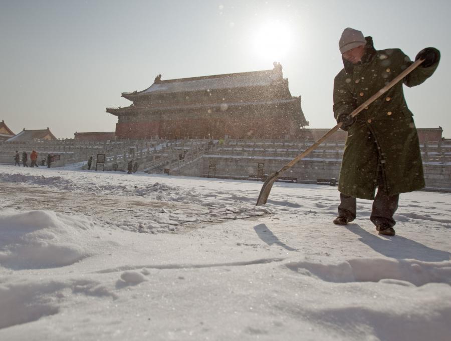 Śnieg w Pekinie