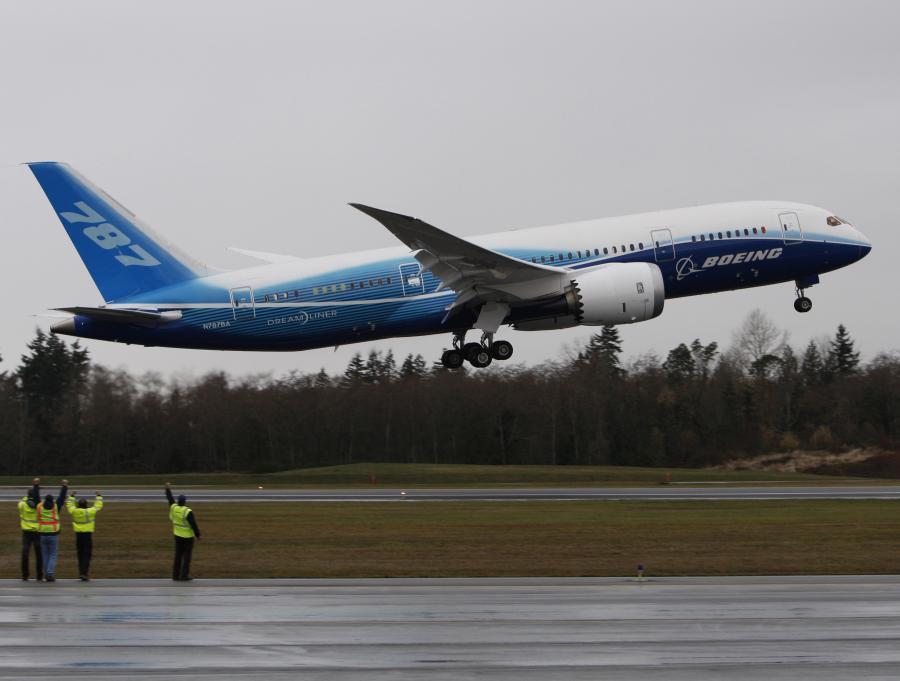 Pierwszy testowy lot Boeinga 787 Dreamliner