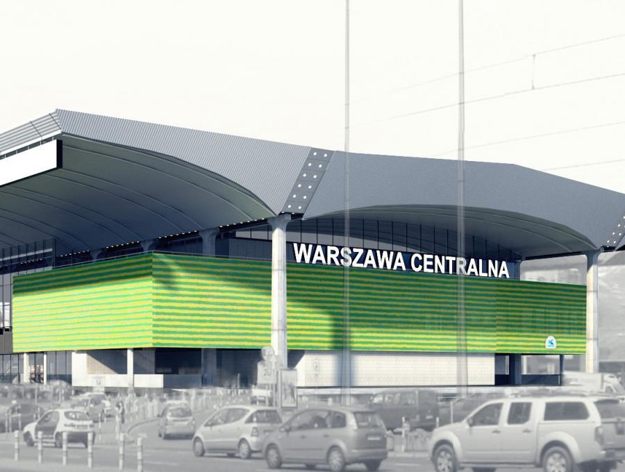 Dworzec Centralny w Warszawie po remoncie przed Euro 2012 - wizualizacja (1), fot. materiały prasowe PKP