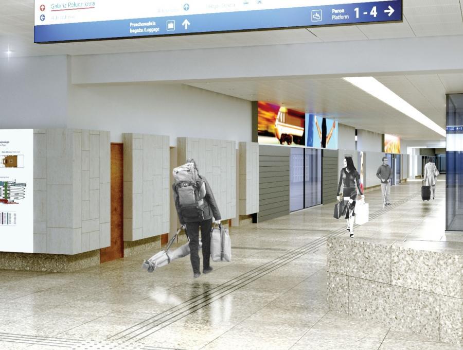 Dworzec Centralny w Warszawie po remoncie przed Euro 2012 - wizualizacja (3), fot. materiały prasowe PKP