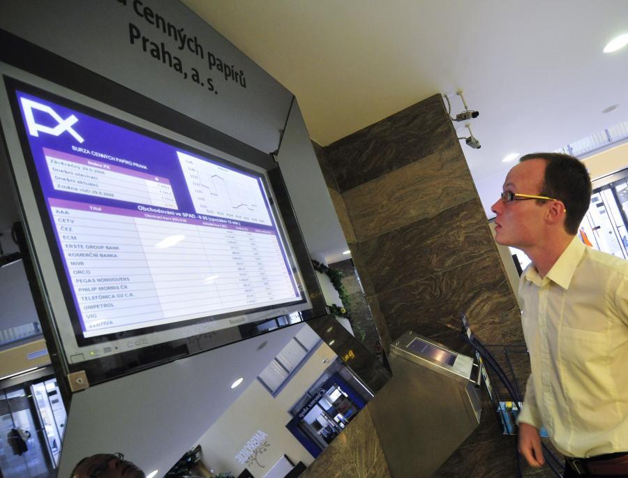 Makler na giełdzie w Pradze
