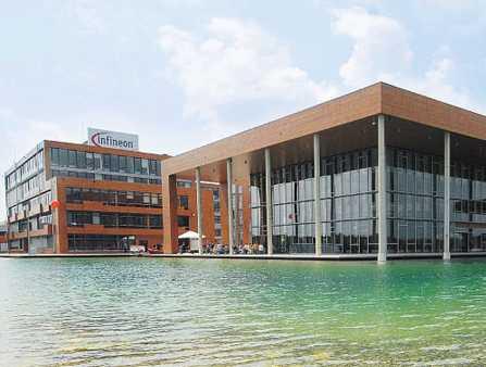 Siedziba główna Infineona, czołowego europejskiego producenta chipów, w Neubibergu, niedaleko Monachium Fot. Bloomberg