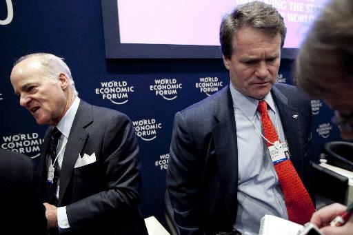 Brian   Moynihan, szef Bank of America Corp. (z prawej) w Davos.