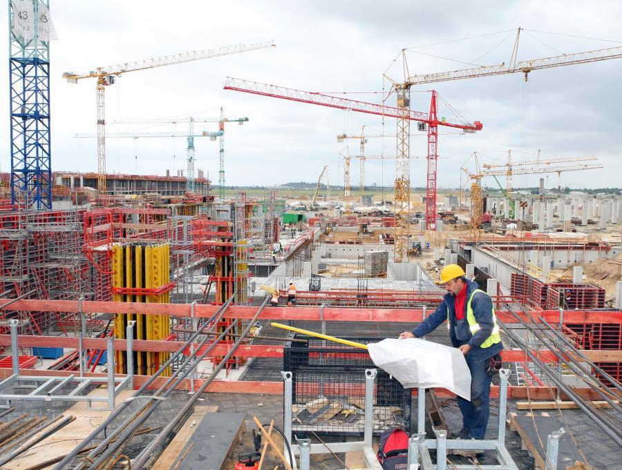 Budowa portu lotniczego BBI (Berlin Brandenburg International) w Berlinie.