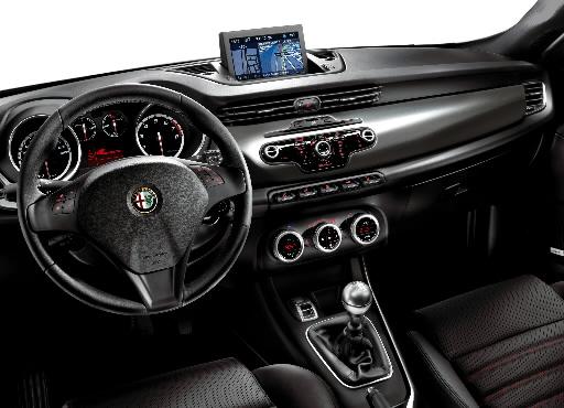 Wnętrze modelu Giulietta marki Afa Romeo
