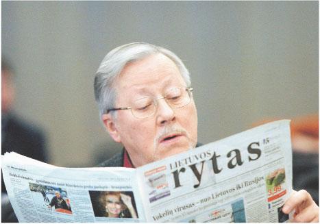 Vytautas Landsbergis, prezydent Litwy tuż po odzyskaniu przez nią niepodległości, w latach 1990 – 1992. Obecnie deputowany do Parlamentu Europejskiego Fot. Jakub Ostałowski/Fotorzepa