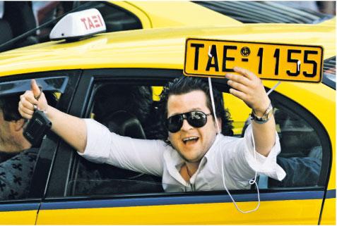 Wczoraj przeciw cięciom protestowali taksówkarze Fot. AP