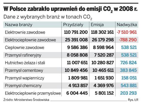 W Polsce zabrakło uprawnień do emisji CO2 w 2008 r.