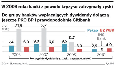 W 2009 roku banki z powodu kryzysu zatrzymały zyski