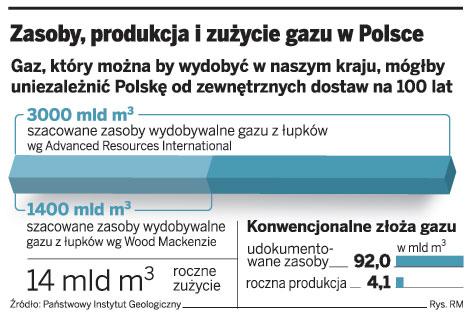 Zasoby, produkcja i zużycie gazu w Polsce