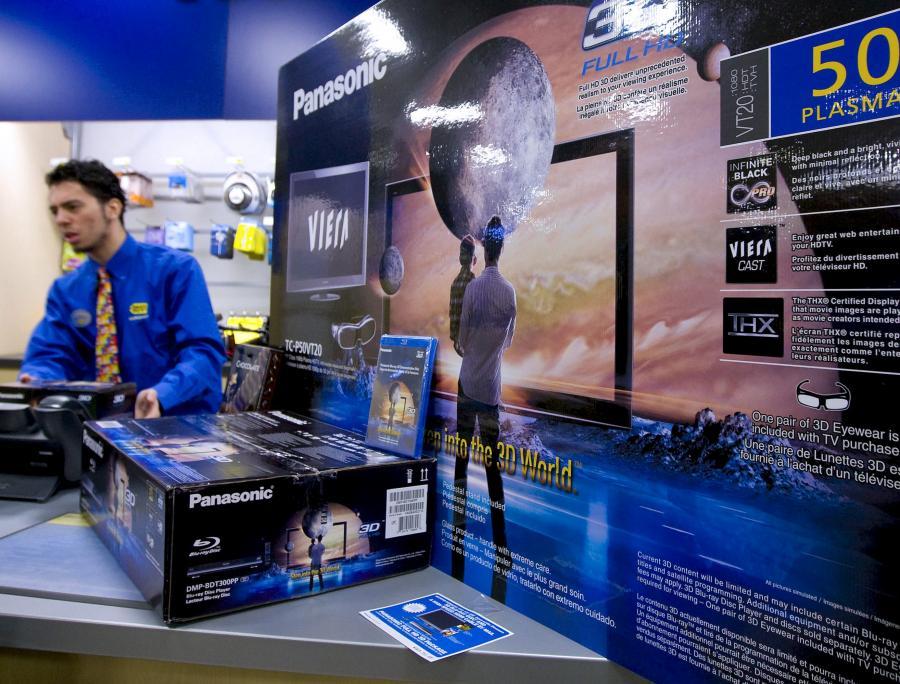 Sprzedaż telewizorów 3D Panasonica w USA