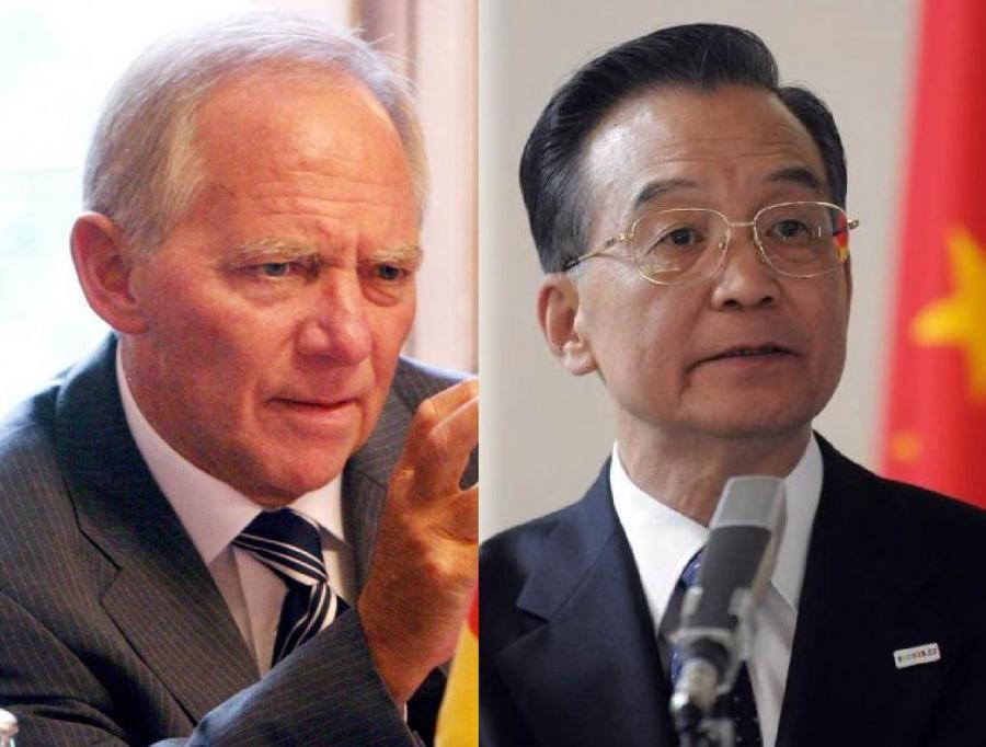 Wolfgang Schaeuble i Wen Jiabao