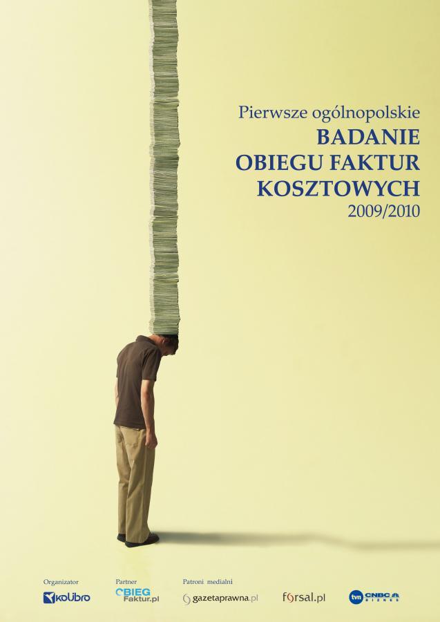 Okładka raportu z Ogólnopolskiego Badania Obiegu Faktur Kosztowych