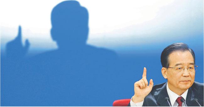Premier Chin Wen Jiabao w niedzielę w Pekinie Fot. Reuters/Forum