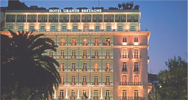 W hotelu Grande Bretagne bankowcy zastanawiali się, jak zarobić na greckim kryzysie Fot. Vossberg/Visum
