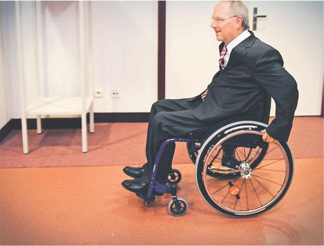67-letni Schaeuble jest najstarszym ministrem i posłem o najdłuższym stażu Fot. fot Wiktor Dabrowski/PAP