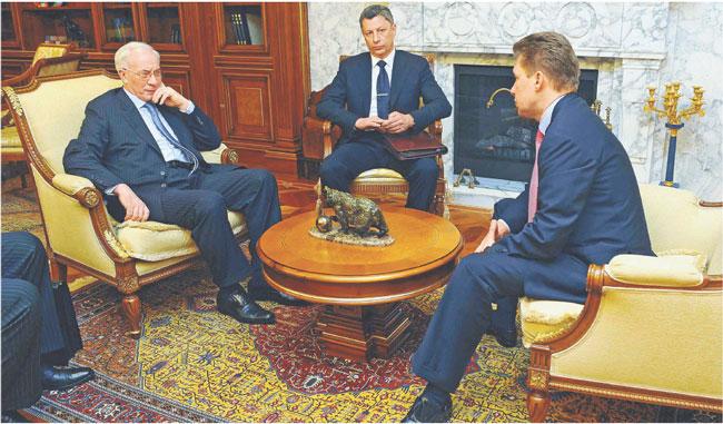 Mykoła Azarow pojechał do Rosji m.in. na rozmowy z szefostwem Gazpromu Fot. ITAR TASS/Forum