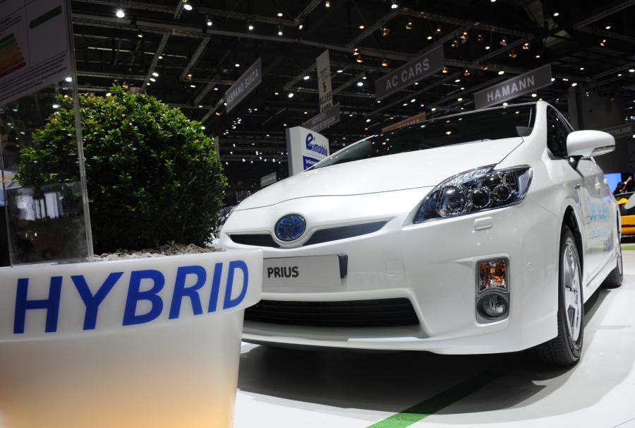 Toyota Prius podczas International Motor Show w Genewie w Szwajcarii