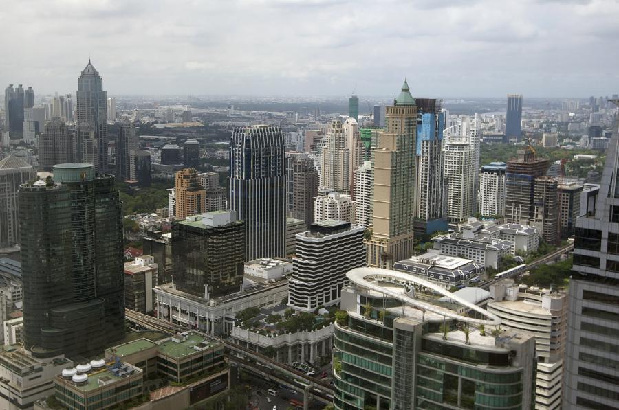 Centrum biznesowe w Bangkoku, stolicy Tajlandii