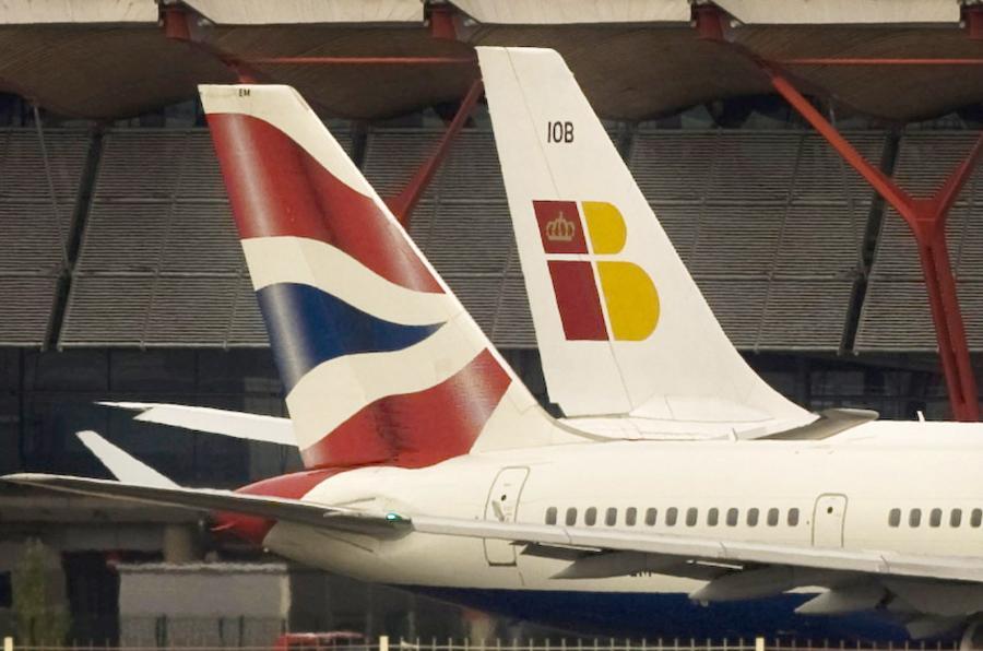 Samoloty linii Iberia i British Airways (2)