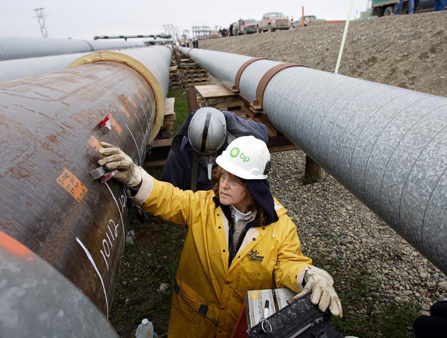 Rurociąg transportujący ropę wydobytą przez BP ze złoża Prudhoe Bay na Alasce
