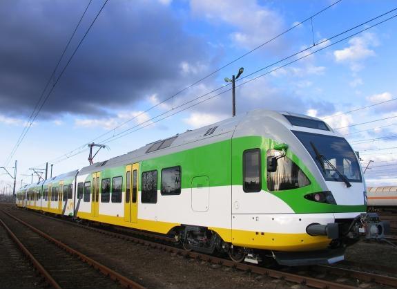 Nowoczesny pociąg Flirt prosto ze Szwajcarii. Fot. Koleje Mazowieckie