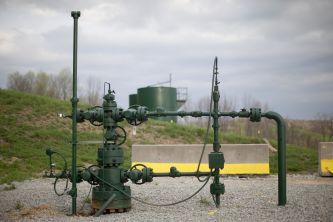 Wydobycie gazu z łupków. Hickory w Pensylwanii. foto: Andrew Harrer/Bloomberg