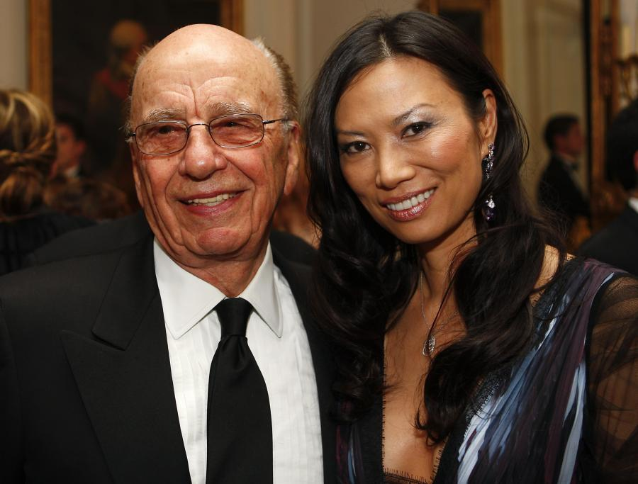 Rupert Murdoch z żoną Wendy