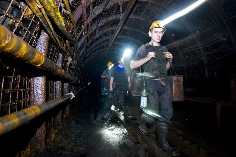 Górnicy w kopalni Jaworzno, należącej do grupy Tauron Polska Energia