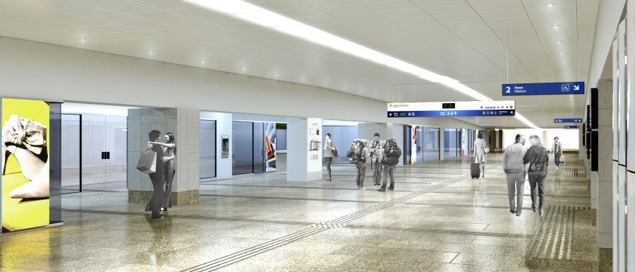 Dworzec Centralny w Warszawie - tak ma wyglądać galeria środkowa Fot. Materiały prasowe PKP