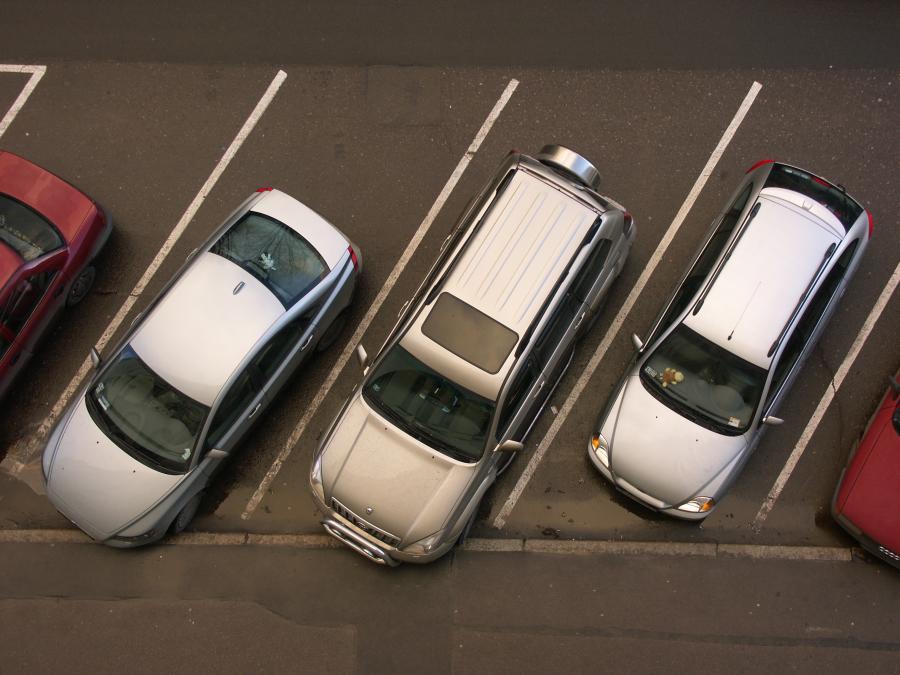 parking, samochody
