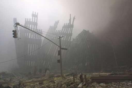 Ruiny World Trade Center 11 września 2001 roku